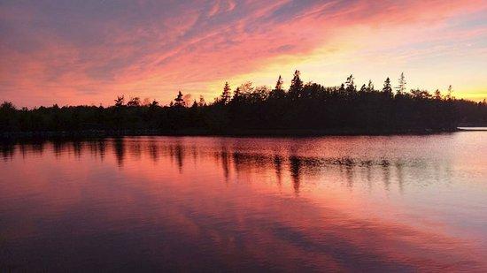 beautiful sunset at Porters Lake