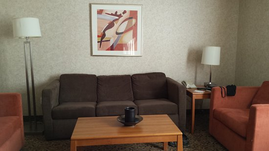 Quality Inn & Suites: Comfy couch and chair
