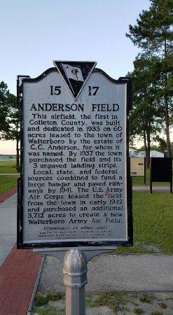 Walterboro, SC: History of Anderson Field