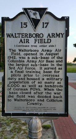 Walterboro, Carolina del Sur: History of Anderson Field #2