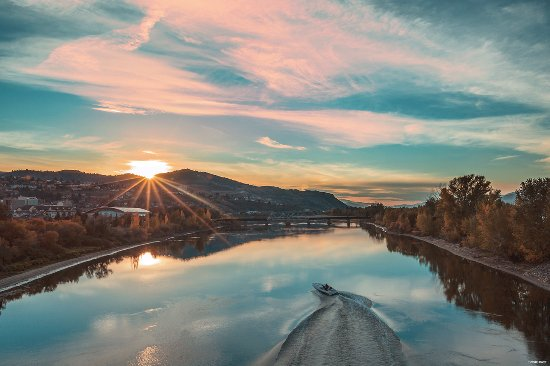 Kamloops, Canada: Boating on the Thompson River