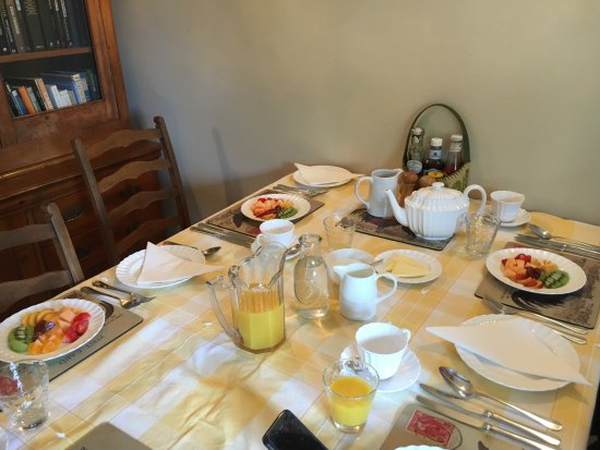 Carsington, UK: breakfast