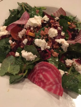 Hudson, MA: healthy beet salad, perfectly dressed.