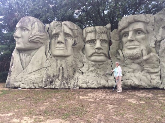 "Presidents Hall of Fame : The Mount Rushmore replica. See what I mean by ""meager"" landscaping?"