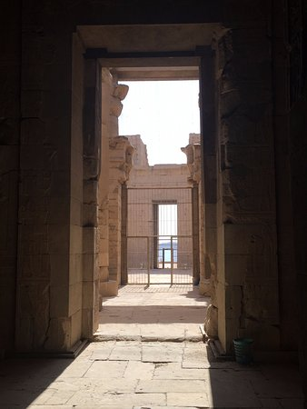New Kalabsha : Looking out - Temple of Mandulis