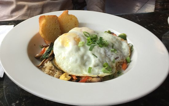 Kalaheo, HI: Roasted Veggies over Brown Rice and Eggs