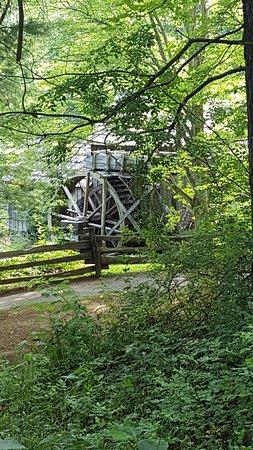 Meadows of Dan, VA: Mabry Mill through the trees