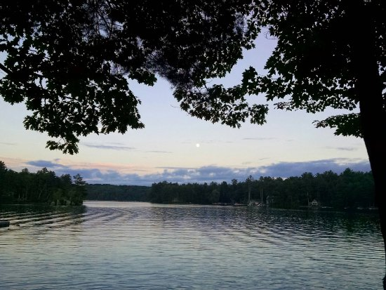 Alfred, ME: Moonrise Over the Lake