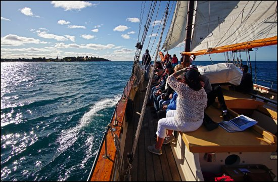 Passengers enjoying a two hour sail from Devonport