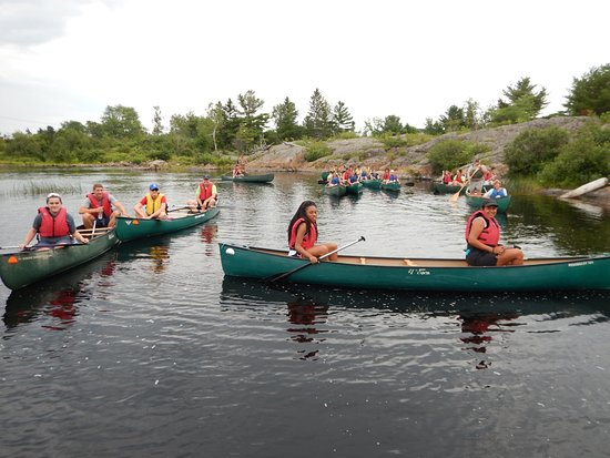 Sunrise Canoe and Kayak: large group on machias river half day trip, summer, eastern maine