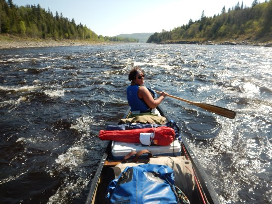 Sunrise Canoe and Kayak: big rapids on st john river, spring, northern maine