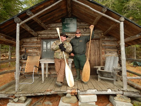 Machias, ME: professional guides at ledge rapids cabin on st john river northern maine