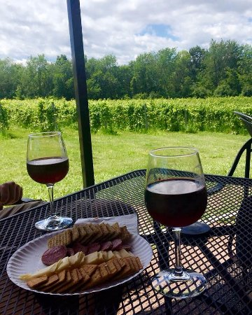 Shelburne Vineyard: Vineyard views with some treats to enjoy them with.