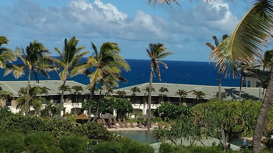 The Point at Poipu: Direct view from our third floor garden room.