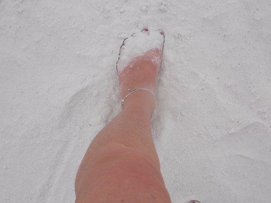 Bean Point: white fluffy sand