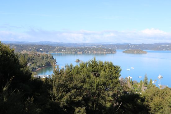 Russell, New Zealand: A beautiful walk up to Flagstaff Hill. Very much worth the effort. Saw some beautiful New Zealan