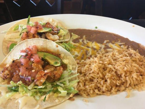 Hercules, CA: two shrimp tacos dinner ($13.95)