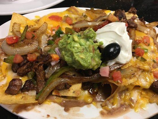 Hercules, CA: Beef fajita nachos ($10.95)