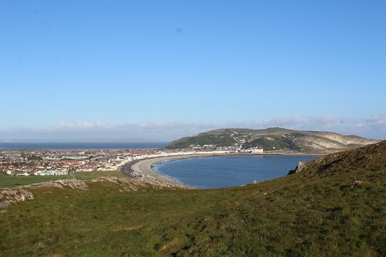 Bay County Hotel: View from the Little Orme of the bay, showing both the west Shore and the North Shore