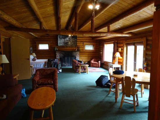"""Kelly, WY: The """"middle"""" room of Homestead House, complete with kitchenette"""