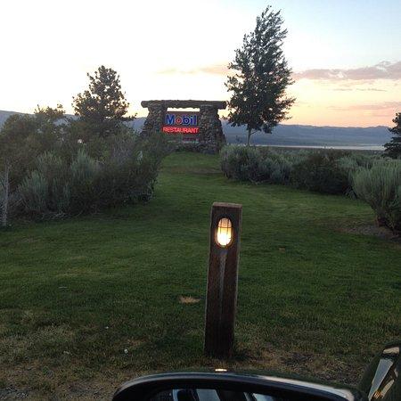 Tioga Gas Mart & Whoa Nellie Deli: View from outdoor eating - Mono Lake