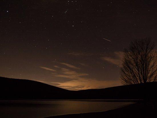 Mahanoy City, PA: The lake at night.