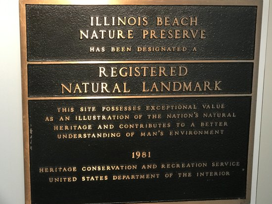 Zion, IL: Plaque inside Nature Center (which is now open after 10 years closed)