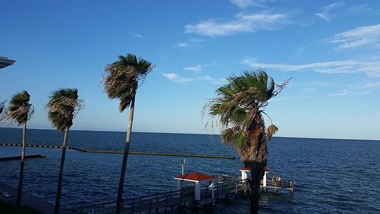 Lighthouse Inn at Aransas Bay: View from the private deck from the room.