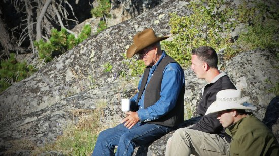 McLeod, MT: Morning coffee with Ron