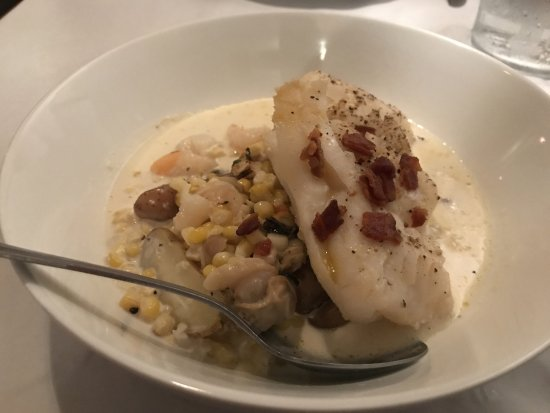 Old Saybrook, CT: Food - atlantic cod and seafood chowda - Red Hen
