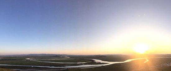 Zoige County, Kina: 九曲與夕陽。