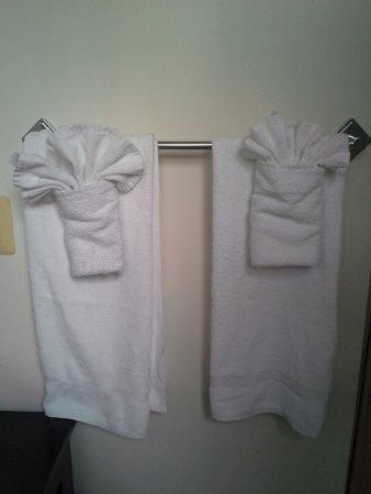 Hotel Brexton: Towel design upon arrival.