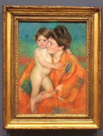 Williamstown, MA: Woman with Baby c. 1902, Mary Cassatt (1844-1926) .Pastel.