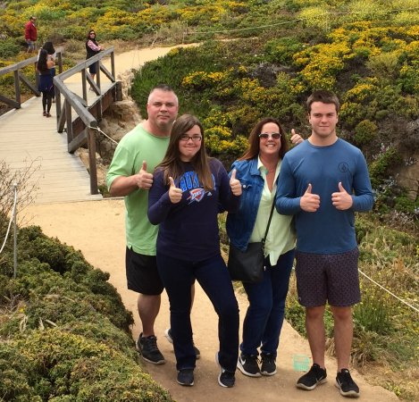 Big Sur Tours and More : Bagwell family walking around one of the many Big Sur locations.