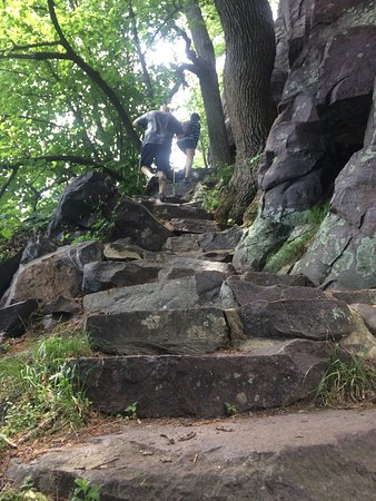Baraboo, WI: Most of the trail is rocky like this.