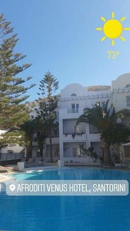 hotel restaurant outdoor seating picture of afroditi venus beach rh tripadvisor com