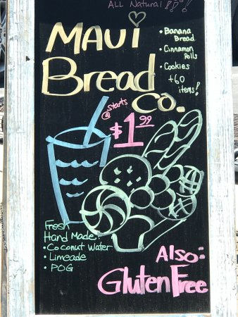 advertisment picture of maui bread company kihei tripadvisor