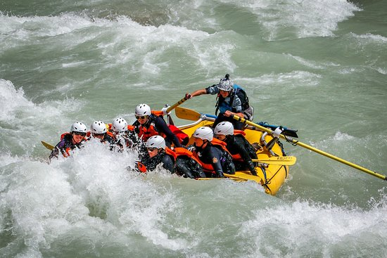Golden, Canada: going down the rapids