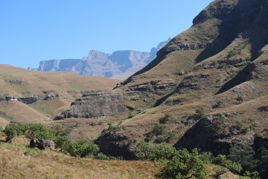 uKhahlamba-Drakensberg Park, Güney Afrika: view from one of the walks