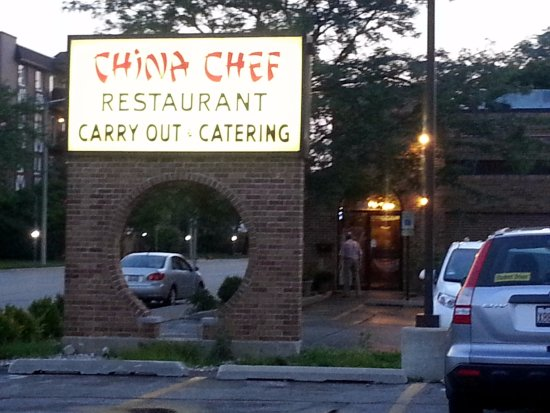 Morton Grove, IL: street sign on Lincoln Ave. for China Chef
