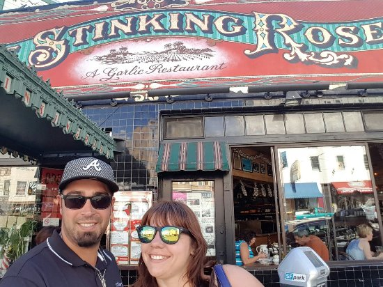 The Stinking Rose San Francisco Schild Des Restaurants