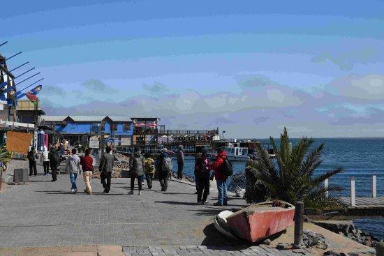 Walvis Bay, Namibia: 桟橋と店