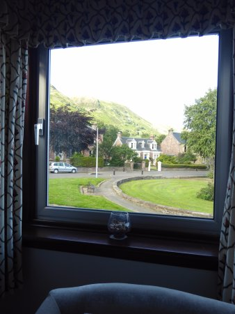 The view of the Ochils from my room