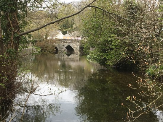The ancient bridge in horrabridge.