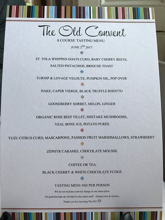 The Old Convent: Menu in June