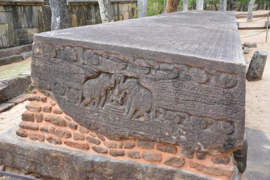 Largest stone carving picture of polonnaruwa