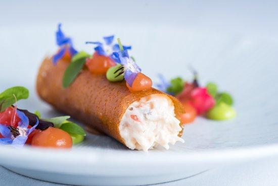 Gulworthy, UK: Crab starter
