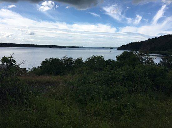 Vikbolandet, İsveç: Utsikt över vattnet