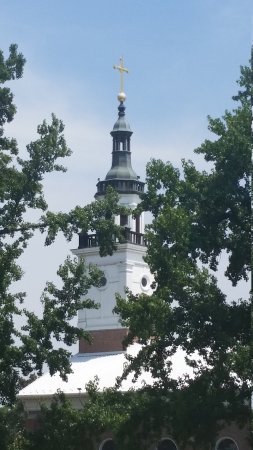Old Cathedral Church: Viewed from George Rogers Clark memorial.