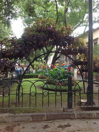 el jard n de las rosas frente al templo y conservatorio